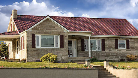 Example of an AB Martin standing seam metal roof.